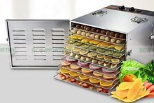 New Stainless Steel Household Fruit Dehydrator/Food Drying Machine 10 Trays 110V