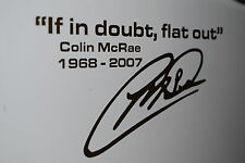 COLIN MCRAE IF IN DOUBT FLAT OUT STICKER DRIFT JAP TRACK MODIFIED SUBARU STI
