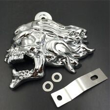 "Chrome Zombie head horn cover For 92-16 Harley w/side mount ""cowbell"" all V-rod'"