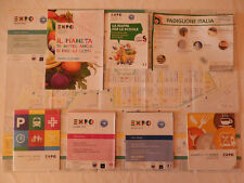 8 Mappe/Guide Ufficiali EXPO 2015 Milano Official Maps Cartine Souvenir