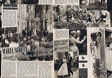 Coupure de presse Clipping 1957 Maria Schell  (2 pages)