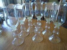 """One 12"""" Tall Glass 2 pc Candle Holder 6"""" & Hurricane Globe 7"""" Wedding"""