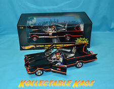 Hotwheels - 1:18 Batman 1966 TV Series Batmobile with Figures NEW - DJJ39