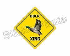 "*Aluminum* Duck Crossing Funny Metal Novelty Sign 12""x12"""