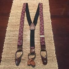 Men's Suspender Braces with Leather Button-ons
