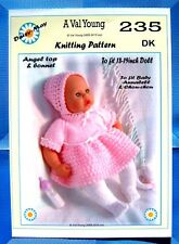 """1 DOLLS KNITTING PATTERN  for  Annabell  No 235 by Daisy-May 17""""-19"""" doll"""