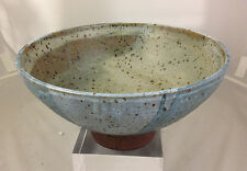 Large Low Footed RAYMOND GALLUCCI (1923-2004) Studio Pottery Footed Bowl