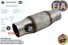 "Fia approved 4"" catalytic converter 100cpsi for Group N Race cars inlet 76mm"