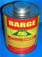 Barge Original All-Purpose Cement Toluene 1 Quart (1QT = 32Oz) Quabaug Tin Can !