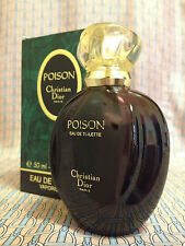 Vintage 1990s Christian Dior Poison 1.7 oz 50 ml Eau de Toilette - OLD FORMULA