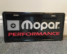 Mopar PERFORMANCE License Plate 70's Dodge Plymouth Cuda Challenger Road Runner