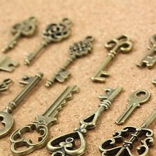 13Pcs/set Vintage Bronze Key Accessaries DIY Pendant Metal Charms Decorations CN