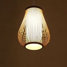 High quality Rattan Cage bamboo Ceiling Pendant Lamp Chandelier  Light Fixtures