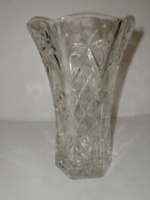 "Anchor Hocking Glass STAR of DAVID EAPC Early American Prescut 8-1/4"" Vase"