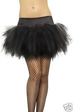 TUTU FRILLY BLACK multi-layered ruffled skirt ONE SIZE