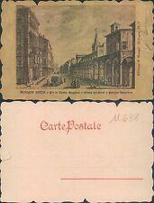 BOLOGNA ANTICA - STRADA MAGGIORE-CHIESA DEI SERVI-PAL.BARGELLINI- (rif.fg.11688)