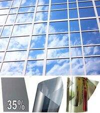 Film Miroir sans tain Solaire Teinté Transparent Anti Effraction Vitre Fenêtre