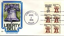 US FDC #1595d Liberty Bell Pane, Cover Craft (0227)