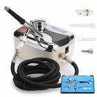 New Air Brush Compressor Dual Action Spray Gun Airbrush Kit 0.3mm Needle Art Set