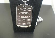 BATMAN COOL DOG TAG PENDANT NECKLACE TAG #2