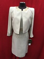 KASPER DRESS SUIT/SIZE 8/CHAMPAGNE/LINED/RETAIL$240/LENGTH 39'