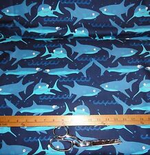 Shark Fabric, Fabrics by the yard, cotton fabric, Boys Fabric, quilting & sewing