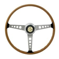 New! 1964-1973 Ford MUSTANG Shelby GT500 Woodgrain Steering Wheel with Center