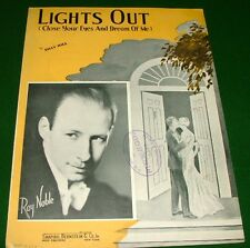 1935 Sheet Music Lights Out (Close Your Eyes and Dream of Me) Ray Noble on cover