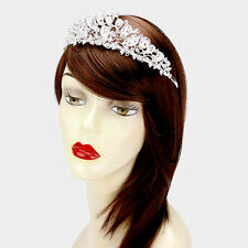 Statement Silver Head Band, Tiara Crystal Cocktail / Bridal By Rocks Boutique