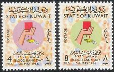 Kuwait 1966 Blood Bank Day/Donation/Donors/Medical/Health/Welfare 2v set n45836