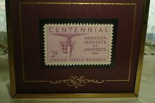 Texas Stamps Co Stamps & Stories Framed American Institute of Architects 2-23-57