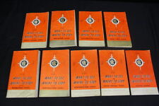 9 What To See & Where To Stop in USA Chicago Motor Club AAA Maps Guides 1960's