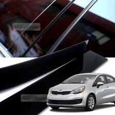 Glossy Black B C Pillar Post UV Coating Cover Trim 6Pcs For KIA 12-17 Rio Pride