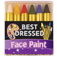 FacePaint Face & Body Painting Crayon Kit Sticks Party Wedding/Kids 6 colour set