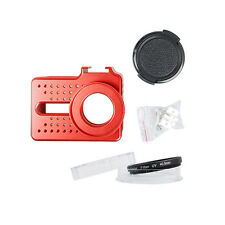 PP Aluminum Shell Protector Housing Case+UV Lens Set For Xiaomi Yi 2 4K Camera
