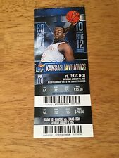 Kansas Jayhawks vs. Texas Tech 2014-15 Game 10 Full Ticket Stub Allen Fieldhouse