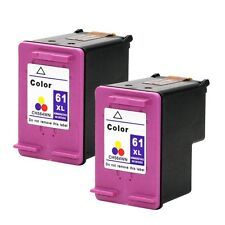 2PKs HP 61 XL Color Ink Cartridges For Deskjet 3050A 3051A 3052A Show Ink Level
