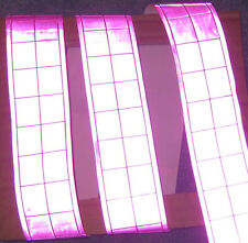 Pink gloss REFLECTIVE TAPE PVC sew on material 3'x2""