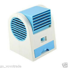 Mini Fan Cooling Portable Desktop Dual Bladeless Air Conditioner USB