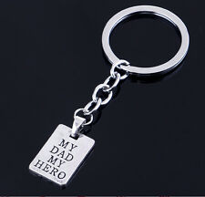 'My Dad My Hero ' Words Keyring keychain Pendant Father's Day Gift Free Shipping