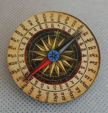 Nautical Rose Compass Brooch or Scarf Pin New Wood Handmade Multi-Color Fashion