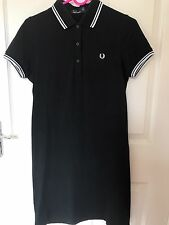 Fred Perry Black White Polo Dress Uk 8 S Amy Winehouse Tennis Rare Sold Out