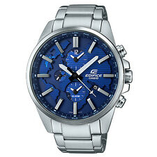 Casio Edifice ETD-300D-2A De Acero Inoxidable Reloj con Cuadrante Azul Nuevo