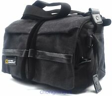 Waterproof Canvas DSLR SLR Camera Shoulder Bag Case Pouch For Nikon Pentax Canon