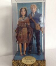 DISNEY FAIRYTALE DESIGNER COUPLES DOLLS POCAHONTAS & JOHN SMITH - LE - NEW