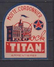 Ancienne étiquette    Alcool  France Bière  Titan