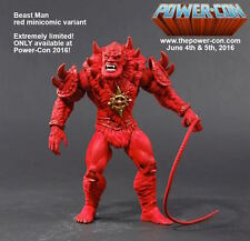 red minicomic Beast Man Power Con Exclusive MOTU HE MAN Masters Classics NEU