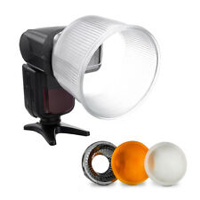 Universal Cloud Lambency Flash Diffuser Reflector with White Dome Cover Sets