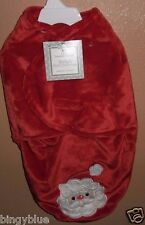 BABY'S FIRST CHRISTMAS SANTA CLAUS SWADDLE ME SAC BAG BLANKET 0-3 MTHS NEW