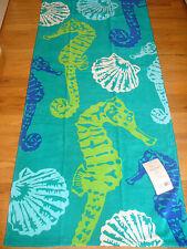 New Seahorse Seashells Beach Bath Towel Plush 28 x 60 Cute!